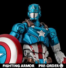 Marvel Fighting Armor Captain America Figure