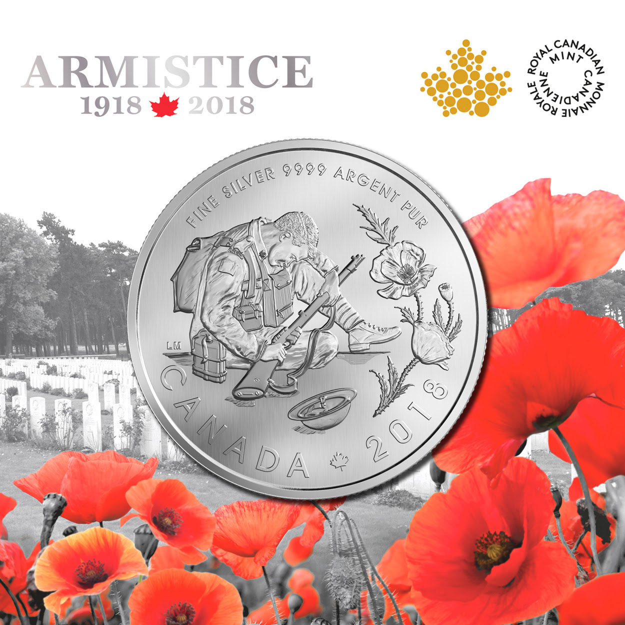 Image of the Armistice 1918-2018 coin.