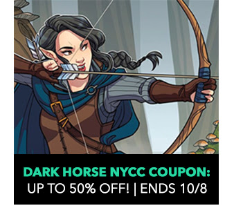Dark Horse NYCC Coupon: up to 50% off! Sale ends 10/8.