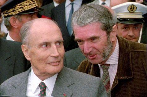 Photo du Président Mitterand et du Dr Claude Gubler