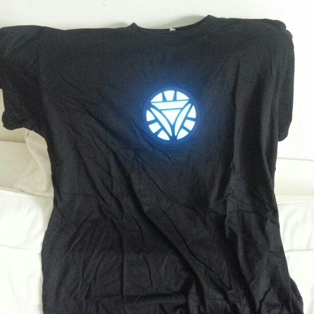 ironman light up led shirt
