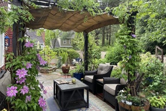 Garden room in suburban Washington, D.C.