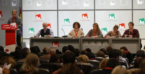Reunión del Consejo Político Regional de IU-CM el pasado febrero.- EFE