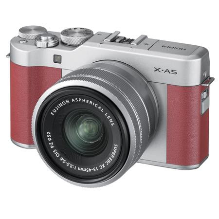 X-A5 24.2MP Mirrorless Digital Camera with XC 15-45mm f/3.5-5.6 OIS PZ Lens, Pink