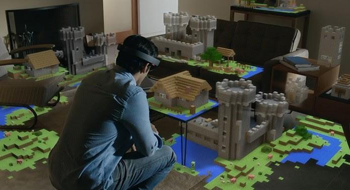 Windows Holográfico: jogos ficam mais reais com tecnologia (Foto: Reprodução/Barbara Mannara)