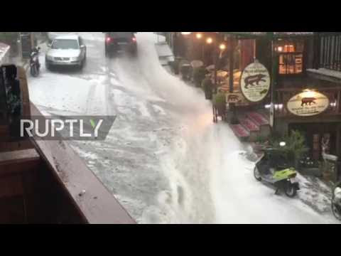 Greece: Thunderstorms and heavy rain cause chaos in Metsovo  Hqdefault
