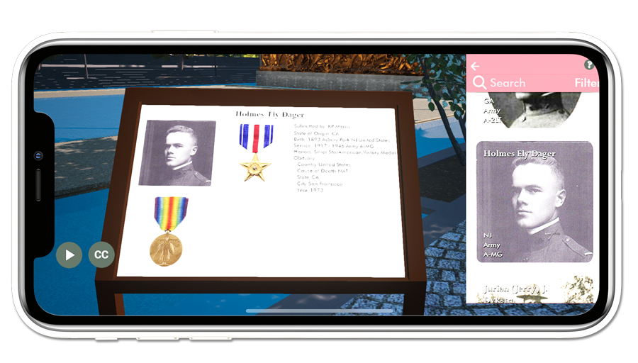 WWI Veterans and other remembrances can be submitted by app users