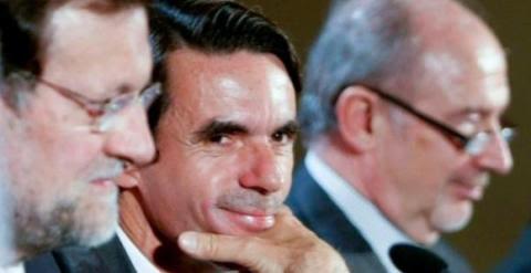 Mariano Rajoy, José María Aznar y Rodrigo Rato, en una foto de archivo. / EFE
