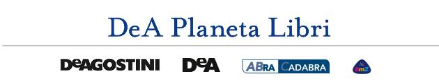 Testata DeA Planeta Libri e marchi De Agostini, DeA, ABraCadabra e Amz