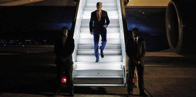 El secretario de Estado estadounidense, John Kerry, a su llegada a París, el 26 de julio. REUTERS/Pool