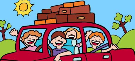 Resultado de imagen de familia con niños viajando