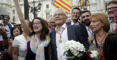 El nuevo alcalde de Valencia Joan Ribó y Mónica Oltra. /REUTERS