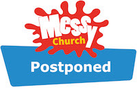 Messy Church Postponed logo