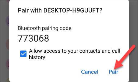 Bluetooth code on Android.