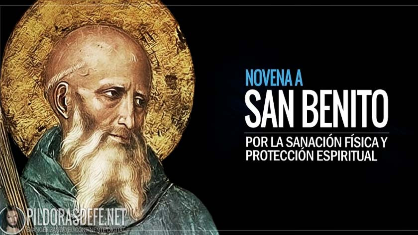 Novena a San Benito por sanación de una enfermedad y protección