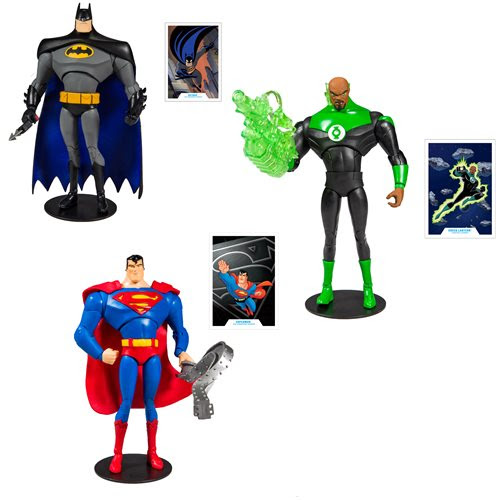 """Image of DC Animated 7"""" Action Figure Wave 1 Set of 3"""