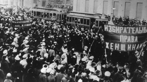 Marcha das mulheres na Rússia em 1917