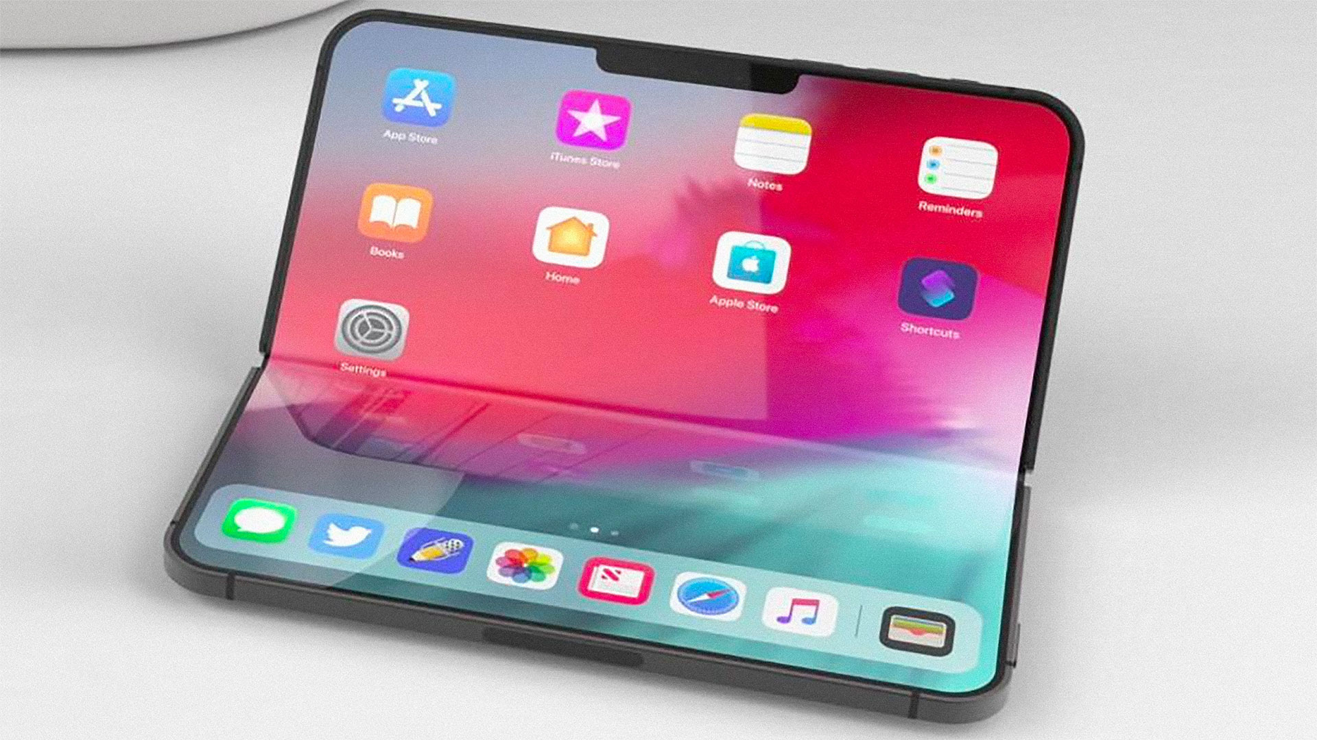 A render of a foldable iPhone