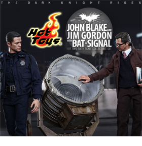 MOVIE MASTERPIECE 1/6 SCALE JON BLAKE & JIM GORDON WITH BAT SIGNAL