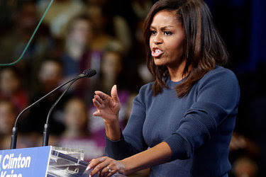 """""""This is disgraceful, it is intolerable, and it doesn't matter what party you belong to,"""" Michelle Obama said of lewd remarks by Donald J. Trump. """"No woman deserves to be treated this way — none of us deserves this kind of abuse."""""""
