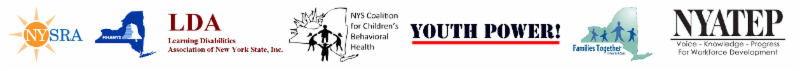 Logos_ NYSRA_ MHANYS_ LDA_ NYS Coalition for Children_s Behavioral Health_ YP__ FTNYS_ NYATEP