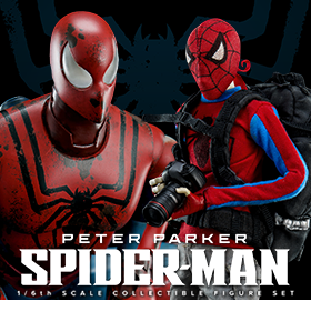 1/6 SCALE PETER PARKER AND SPIDER-MAN FIGURE SET