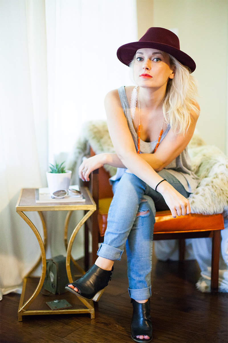 BOHO festival style vibes for spring 2016 wearing Levi's 711 jeans