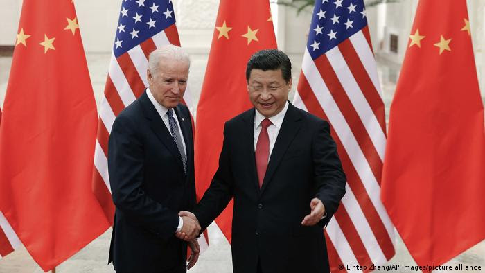 China   Präsident Xi Jinping und Joe Biden