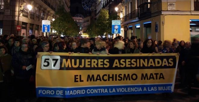 Marcha en Madrid con motivo del Día Internacional Contra la Violencia de Género.