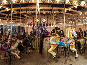 Historic carousel in the Indianapolis Children's Museum