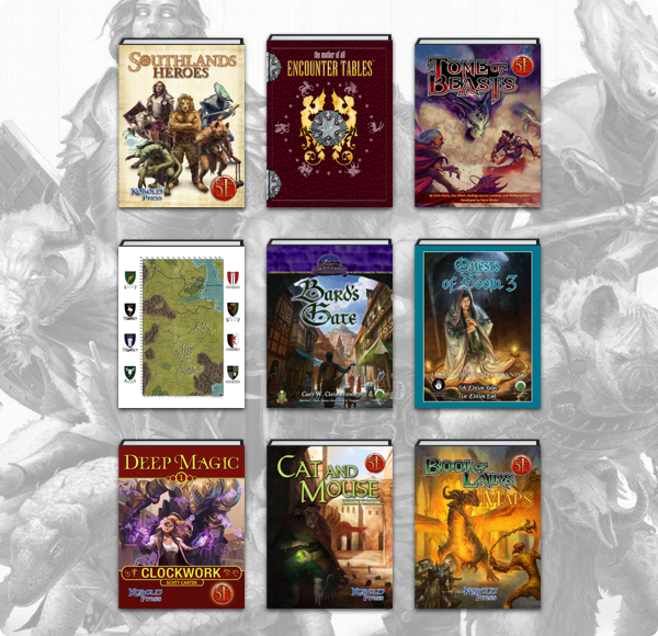 The Humble RPG Book Bundle: Dungeons, Monsters & Dragons 5E by Frog God Games & Kobold Press