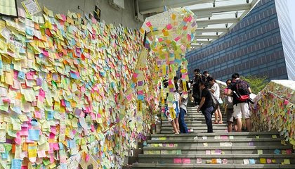Hong Kong's Sticky-Note Revolution image