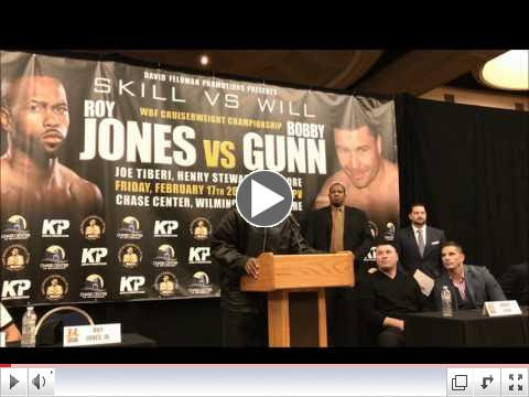 Roy Jones Jr. - Bobby Gunn Press Conference