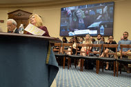 Charles Tiefer and Elizabeth Foley testifying before the House Science, Space and Technology Committee on Wednesday.
