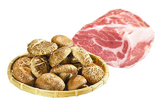 돼지고기, 표고버섯