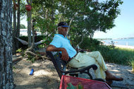 William Pickens III, 80, has lived in Sag Harbor Hills, a subdivision of the Long Island village of Sag Harbor, for 66 years. Some residents have grown wary of an increasing number of investors sweeping up properties in the area.