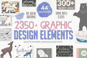 2350+ Graphic Design Elements