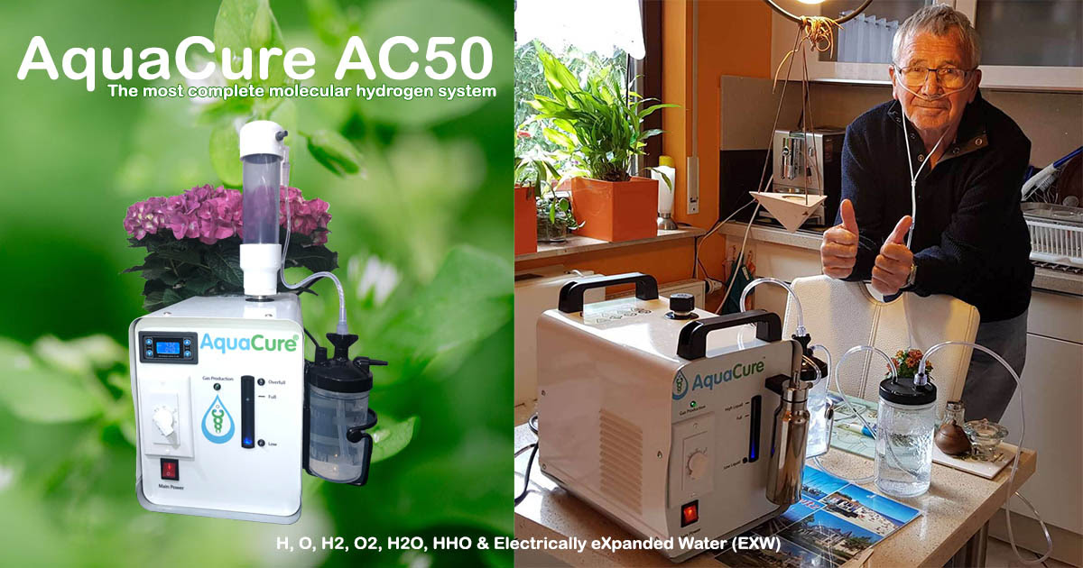 aquacure molecular hydrogen water and HHO gas generator