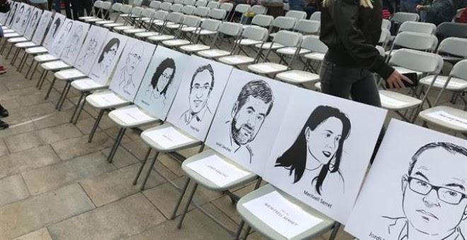 El acto institucional del 1-O reserva la primera fila para presos y líderes en el extranjero. - EUROPA PRESS