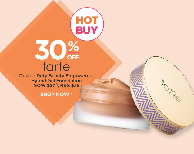 TARTE | Double Duty Beauty Empowered Hybrid Gel Foundation 30 Percent Off, NOW $27