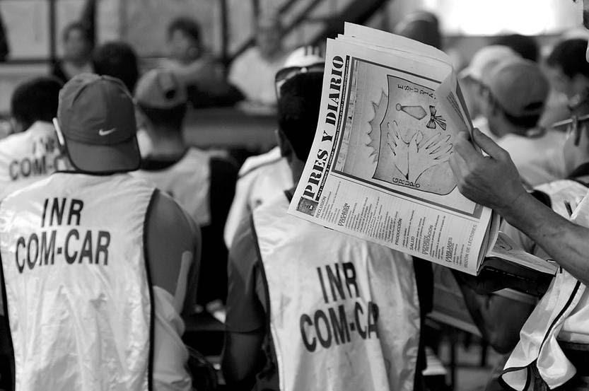 Presentación del número 3 de Pres y Diario, el lunes, en el área educativa del Comcar. Foto: Sandro Pereyra