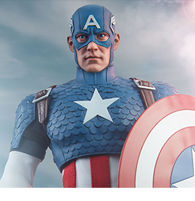 MARVEL COMICS CAPTAIN AMERICA 1/6 SCALE FIGURE