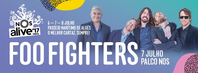 Foo Fighters confirmados na 11º edição do NOS Alive'17