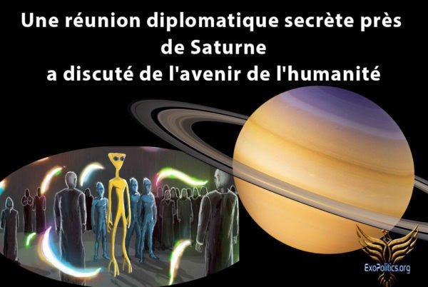 Une réunion diplomatique secrète près de Saturne a discuté de l'avenir de l'humanité