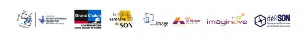 Logos partenaires journée pro Forum du Son