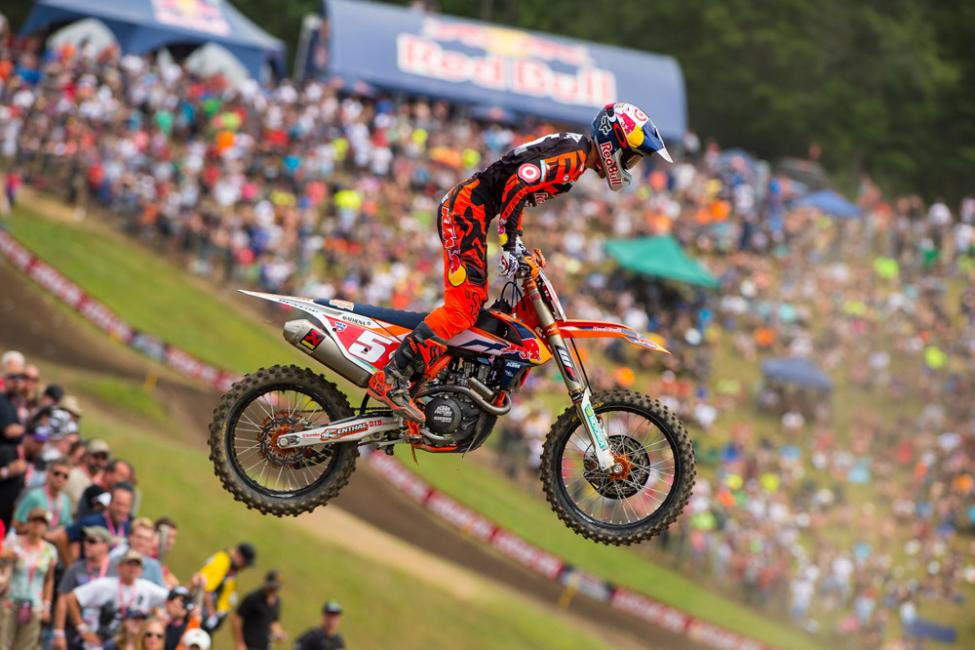 Dungey inched one step closer to the 450 Class title.Photo: Simon Cudby