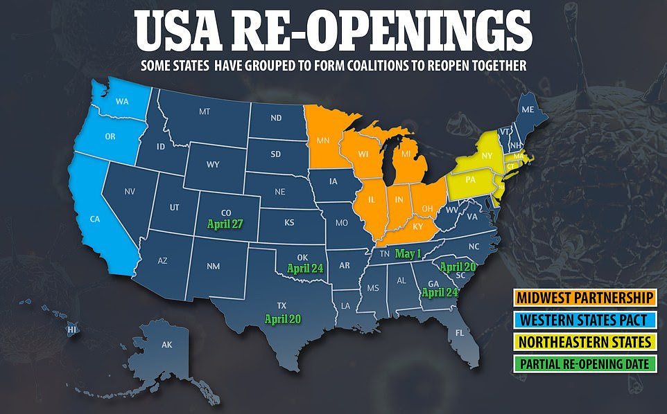 Map of States that are packing up