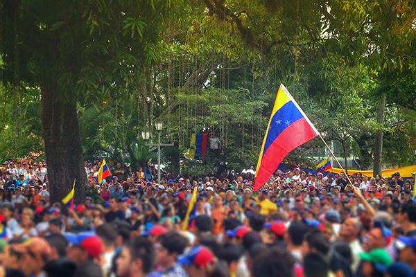 Manifestación el 17 de enero en San Cristóbal, Venezuela. Foto: Valentin Guerrero (CC BY 2.0)