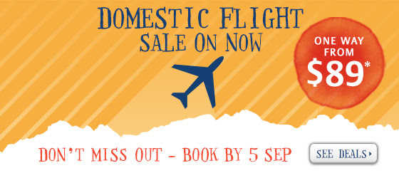 Zuji domestic sale now on - fly fr $89 one way