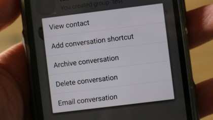Create a shortcut for chats